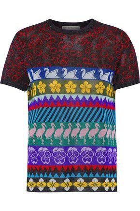 MARY KATRANTZOU Pedro metallic intarsia-knit top