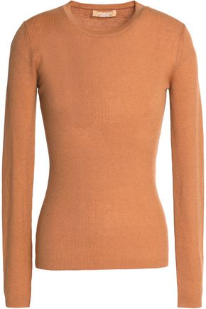 WOMAN RIBBED CASHMERE SWEATER CAMEL