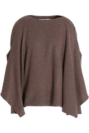 CHALAYAN Cape-effect draped wool sweater