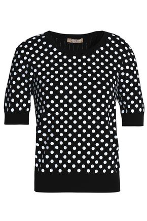 MICHAEL KORS COLLECTION Sequined ribbed-knit top