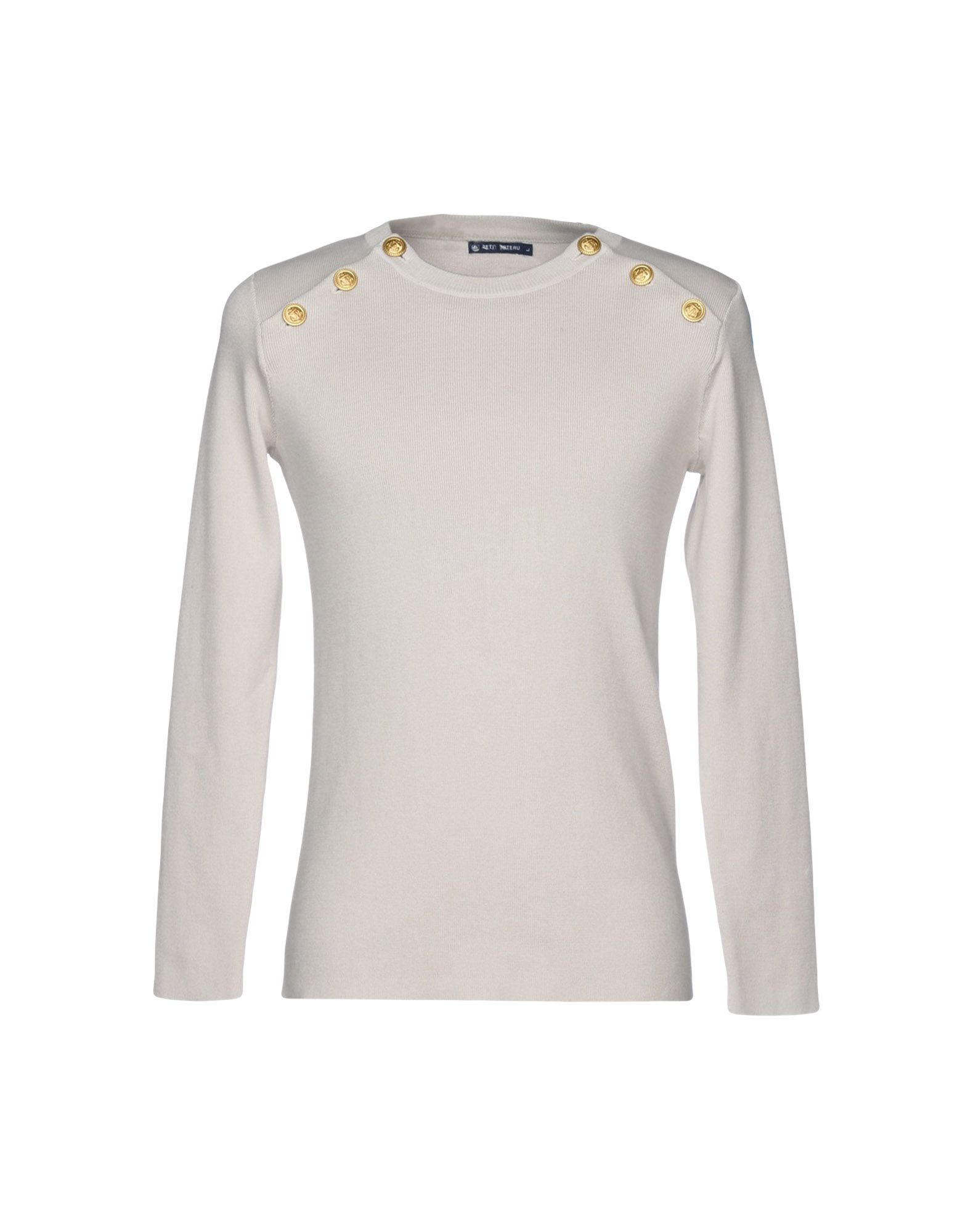 PETIT BATEAU Свитер light grey slit design bateau long sleeves top