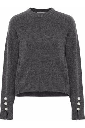 3.1 PHILLIP LIM Faux pearl-embellished marled stretch-knit sweater