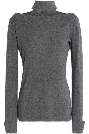 BAILEY 44 Aristocratic cutout stretch-knit turtleneck sweater