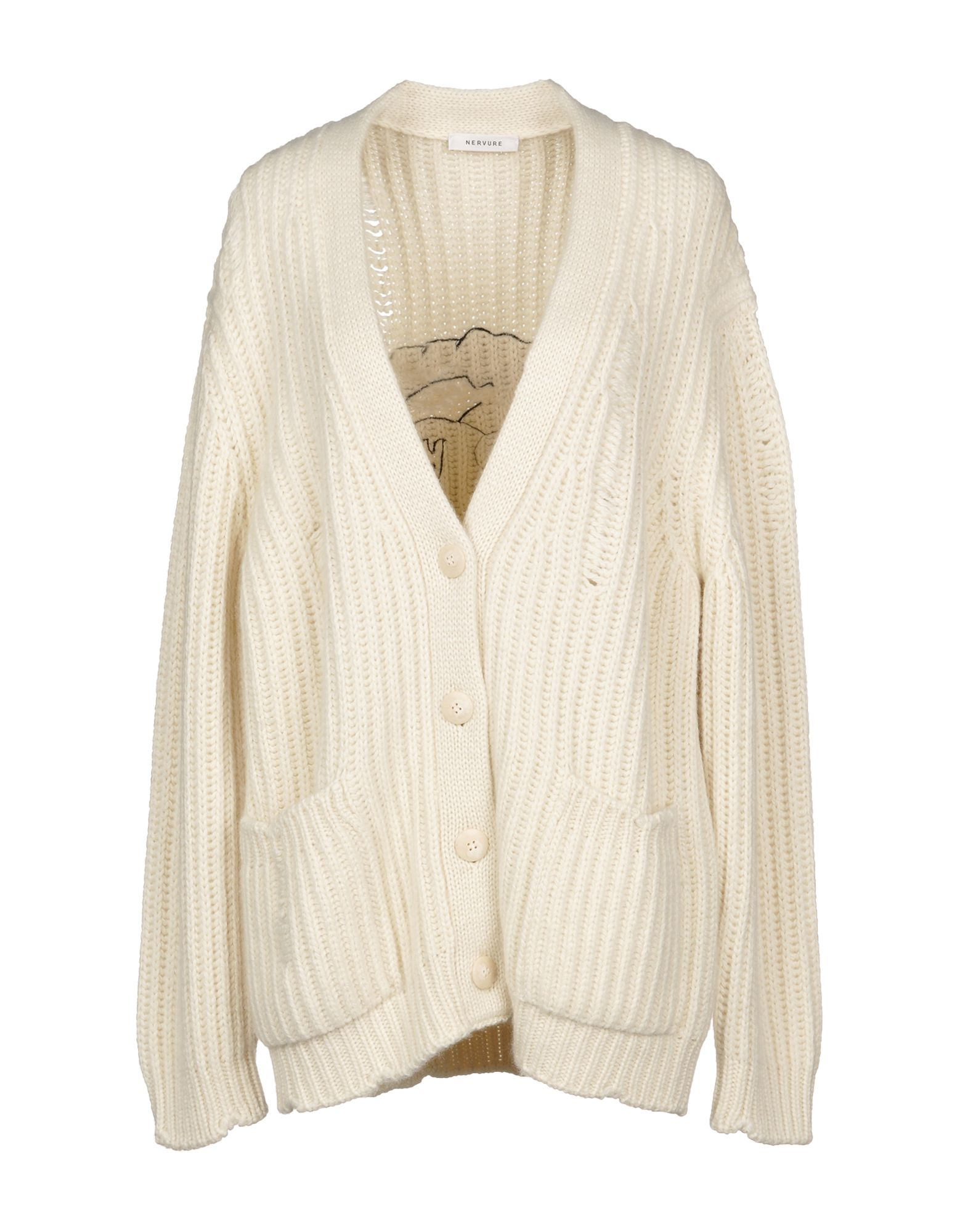 NERVURE Cardigan in Ivory