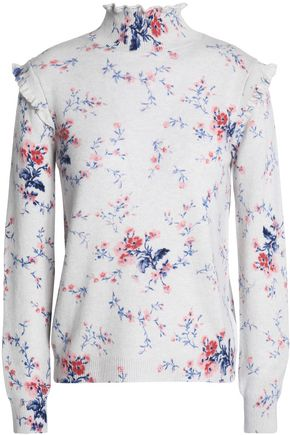 JOIE Robbia floral-print wool and cashmere-blend turtleneck sweater