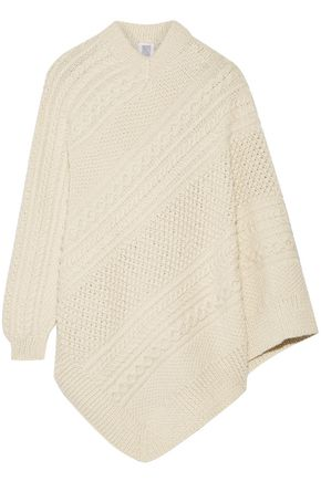 ROSIE ASSOULIN Grandma Elanor's cable-knit alpaca poncho