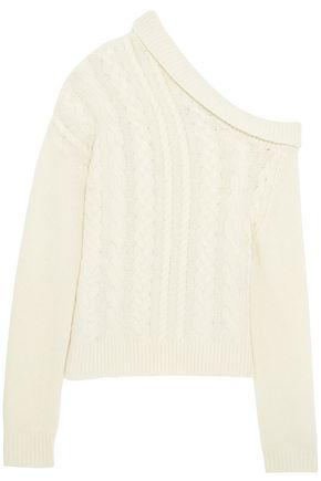 PREEN by THORNTON BREGAZZI Elaine one-shoulder cable-knit wool-blend sweater