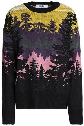 MSGM Intarsia wool-blend sweater