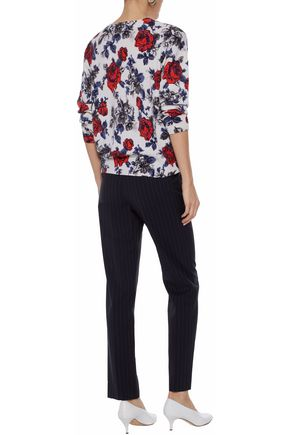 EQUIPMENT Melanie floral-print cashmere sweater