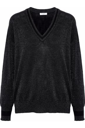 EQUIPMENT Lucinda metallic wool-blend sweater