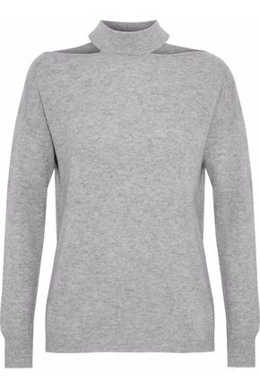 AUTUMN CASHMERE Cutout mélange cashmere sweater