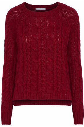 AUTUMN CASHMERE Fisherman cable-knit sweater