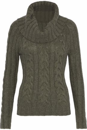 AUTUMN CASHMERE Cable-knit turtleneck sweater