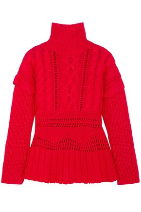 ALTUZARRA Prelude cable-knit wool turtleneck sweater