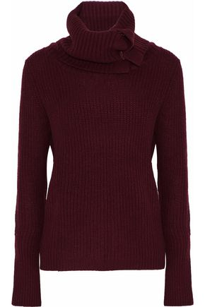 AUTUMN CASHMERE Ribbed-knit turtleneck sweater