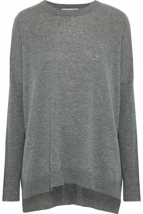 AUTUMN CASHMERE Paneled mélange cashmere sweater