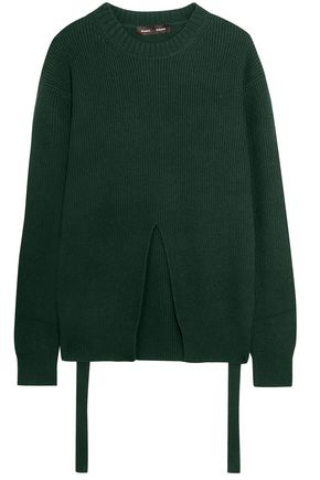 PROENZA SCHOULER Split-front wool, silk and cashmere-blend sweater
