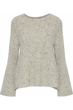 Paden Marled Ribbed Wool Blend Sweater by Joie