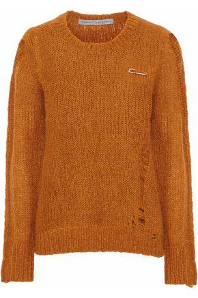 RAQUEL ALLEGRA Fuzzy Punk distressed knitted sweater