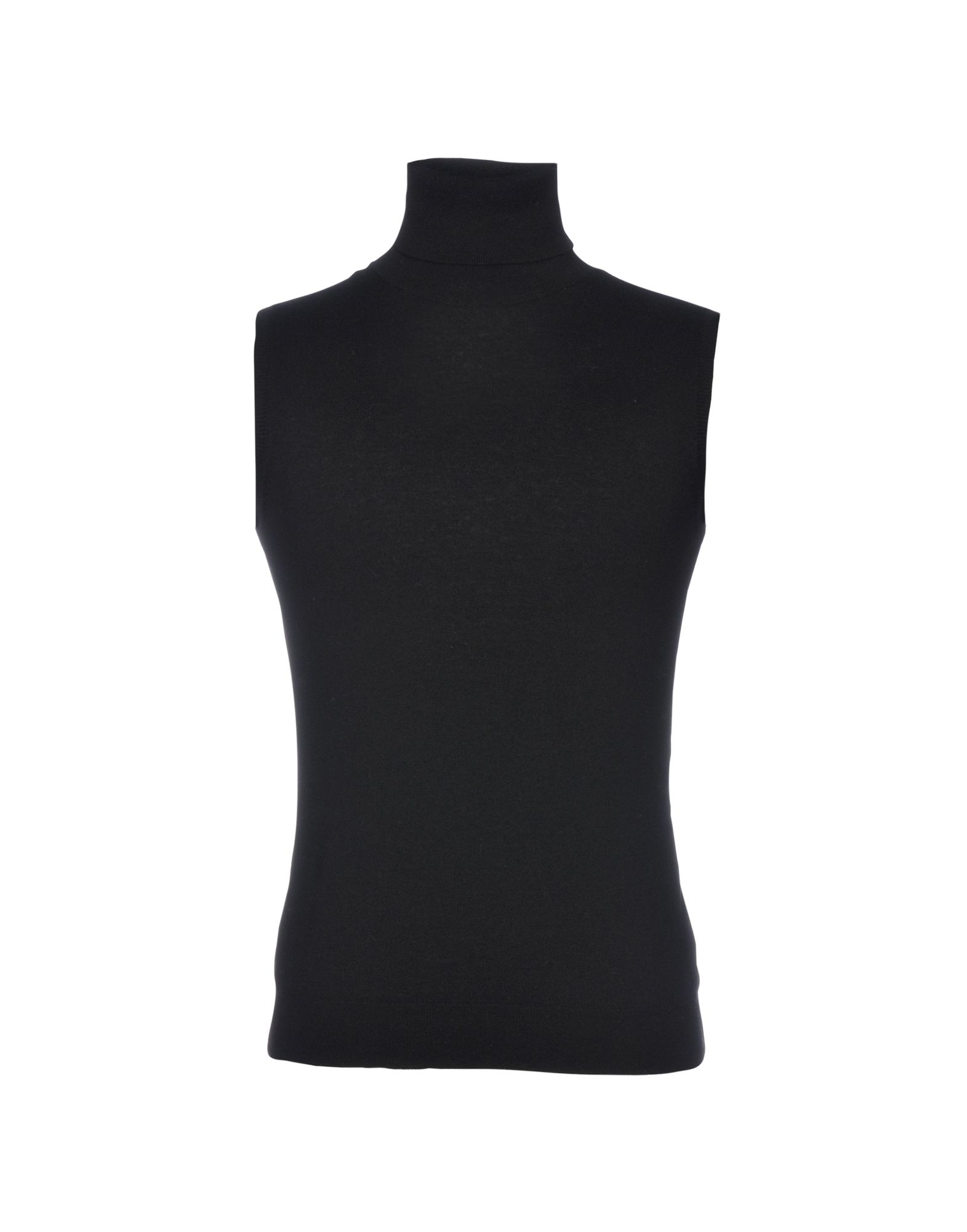 《送料無料》LAMBERTO LOSANI メンズ タートルネック ブラック S ウール 100%