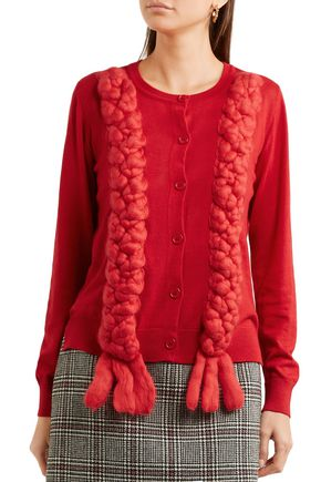 SIMONE ROCHA Braided merino wool, silk and cashmere-blend cardigan