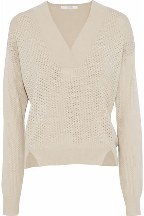 HOUSE OF DAGMAR Pointelle-knit sweater
