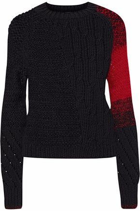 HELMUT LANG Open and cable-knit wool-blend sweater