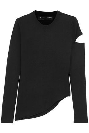 PROENZA SCHOULER Asymmetric cutout wool-blend sweater
