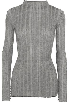 PROENZA SCHOULER Metallic ribbed-knit sweater
