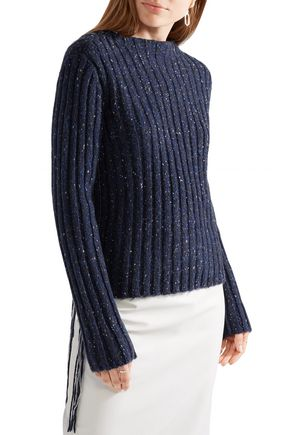 THE ROW Fenix ribbed marled cashmere sweater