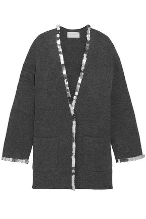 CHRISTOPHER KANE Sequin-embellished wool-blend cardigan