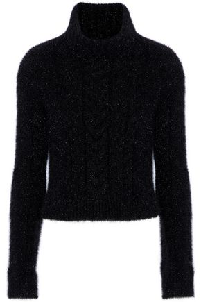 PHILOSOPHY di LORENZO SERAFINI Metallic knitted turtleneck sweater