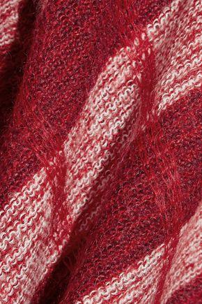 MIU MIU Checked mohair-blend sweater