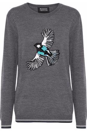 MARKUS LUPFER Natalie sequin-embellished merino wool sweater