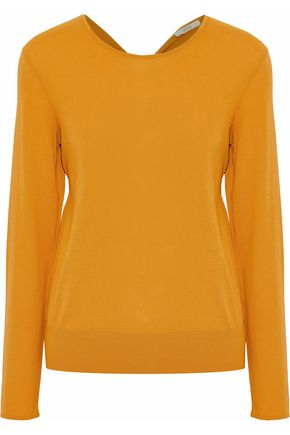 HOUSE OF DAGMAR Noreen twist-back cotton-blend sweater