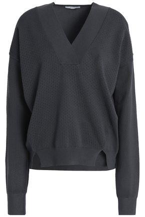 HOUSE OF DAGMAR Pointelle-knit sweater