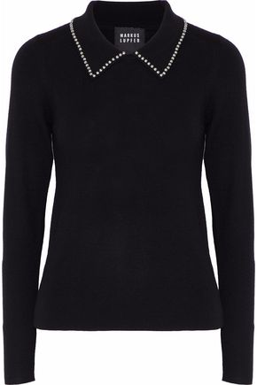 MARKUS LUPFER Lucie studded merino wool sweater