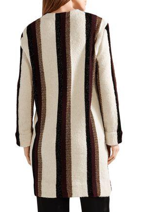 LANVIN Metallic striped intarsia-knit cardigan