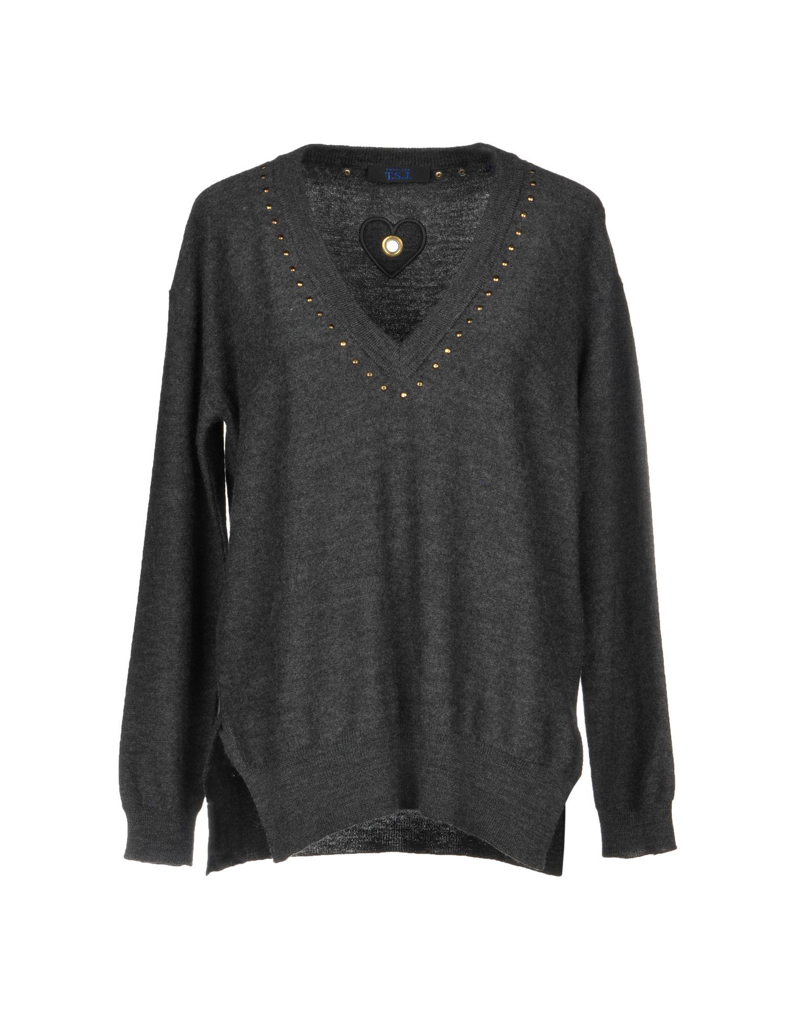 TWIN-SET JEANS Sweater in Lead