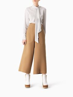 Pantalon court en coton mélangé