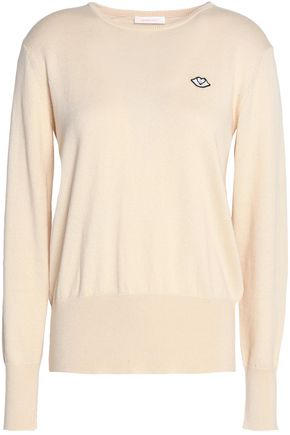 SEE BY CHLOÉ Appliquéd cotton and wool-blend sweater