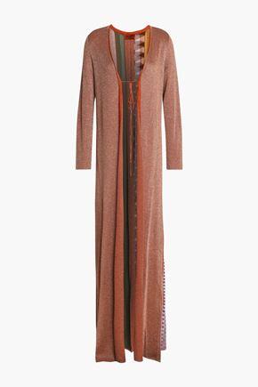 MISSONI Metallic stretch-knit cardigan