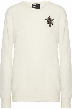 MARKUS LUPFER Natalie appliquéd wool-blend sweater