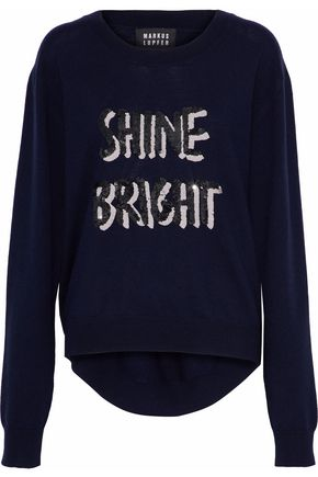MARKUS LUPFER Joey sequin-embellished merino wool sweater