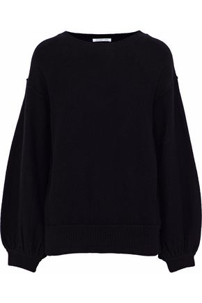 HELMUT LANG Gathered wool and cashmere-blend sweater