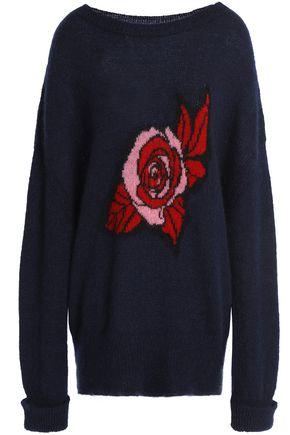 MARKUS LUPFER Erin intarsia mohair-blend sweater