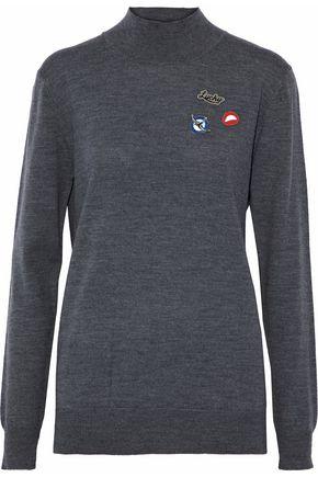 MARKUS LUPFER Appliquéd wool sweater
