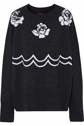 MARKUS LUPFER Chloe intarsia merino wool sweater