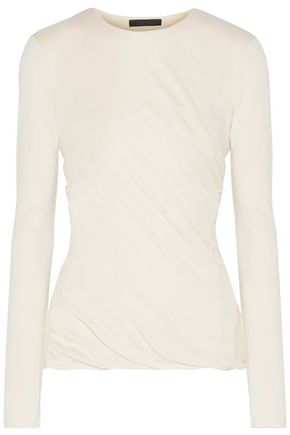 THE ROW Abinah ruched cashmere sweater