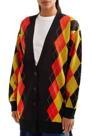 STELLA McCARTNEY Oversized argyle wool cardigan